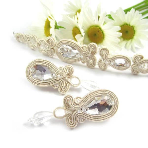 delikatna biżuteria ślubna soutache