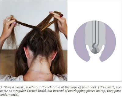 French braid updo hairstyles for medium hair