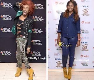 Who rocked the high heel better: Denrele Vs Lilian Esoro