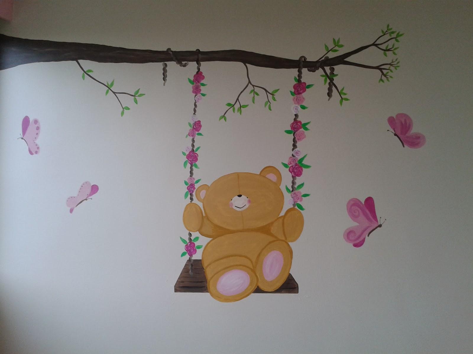 Idee baby muurschildering kamer - Baby meisje idee ...