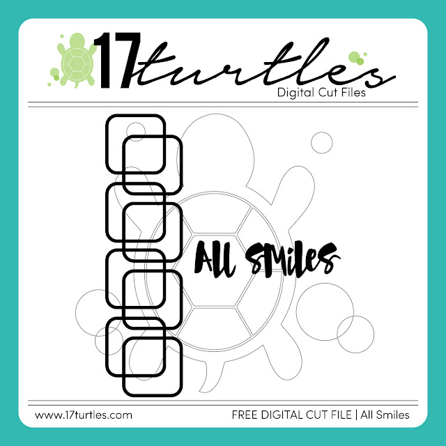 All Smiles Free Digital Cut File by Juliana Michaels