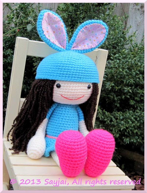 Amigurumi Crochet Patterns K And J Dolls : Huggy Amy Amigurumi Crochet Pattern - Sayjai Amigurumi ...