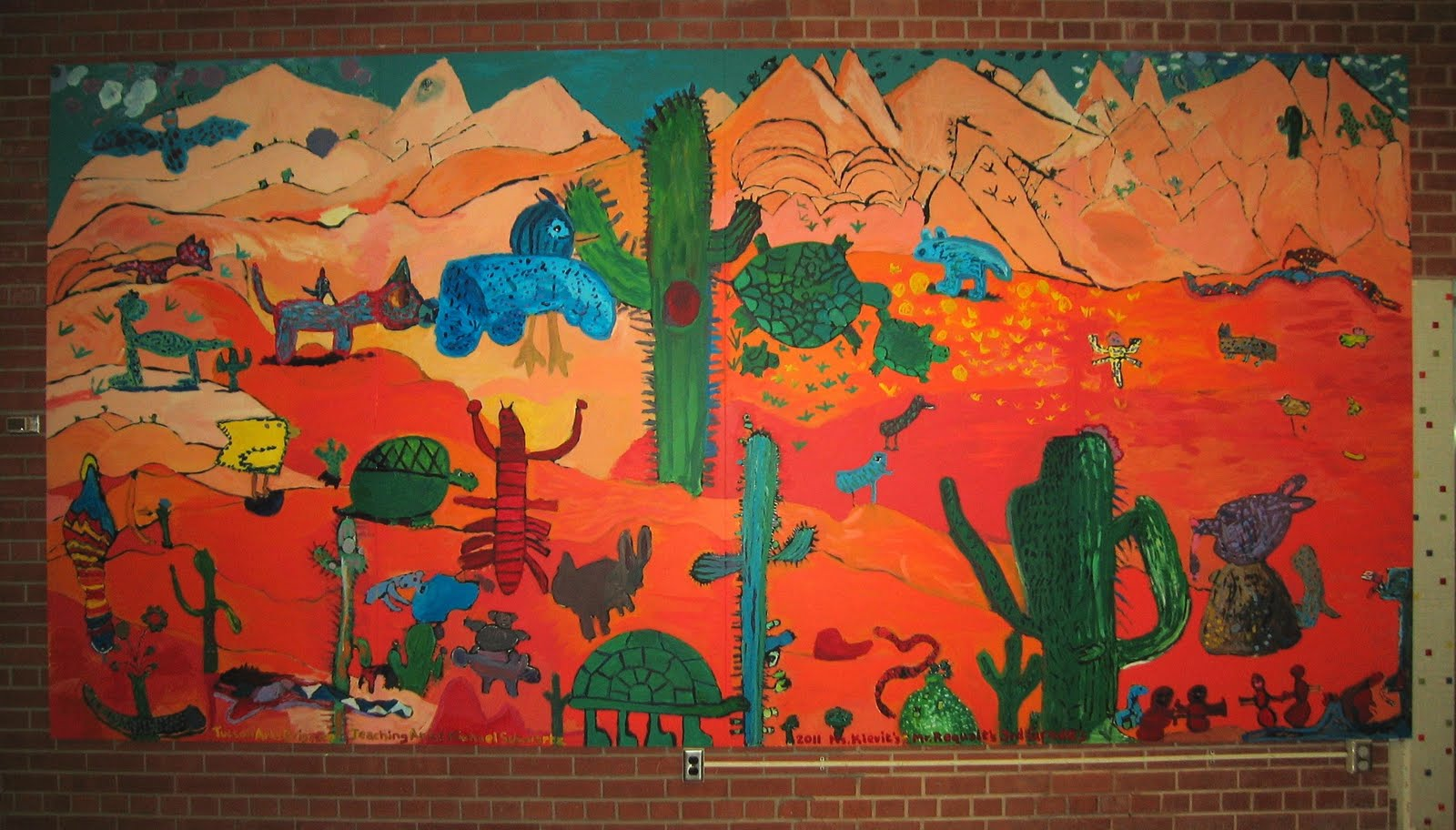 Tucson mural arts program dietz elementary school mural for Elementary school mural ideas