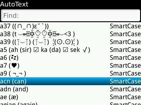 autotext blackberry messenger.