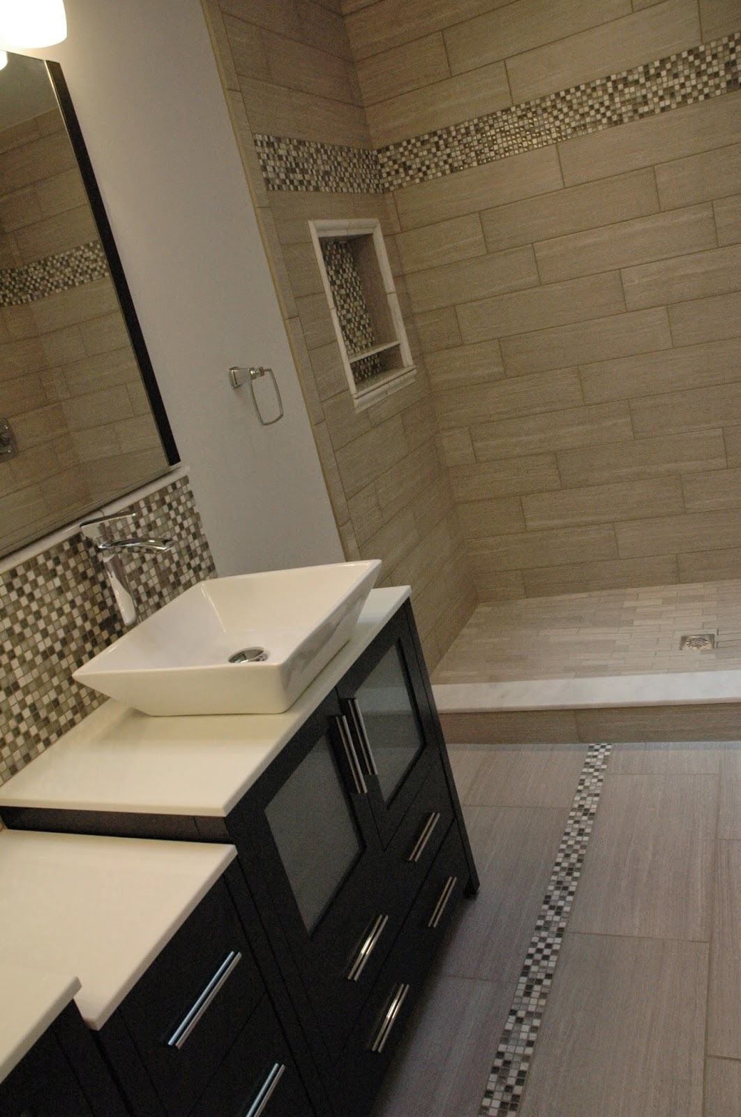 Custom bathroom remodeling modern bathrom remodel for Bathroom 12x24 tile