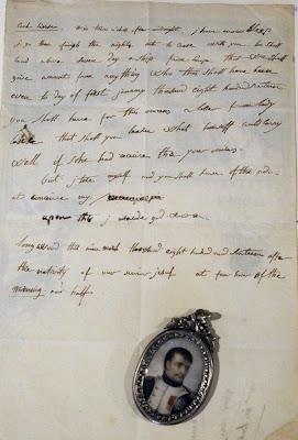 GAMBAR menunjukkan surat yang ditulis Napoleon dalam bahasa Inggeris.