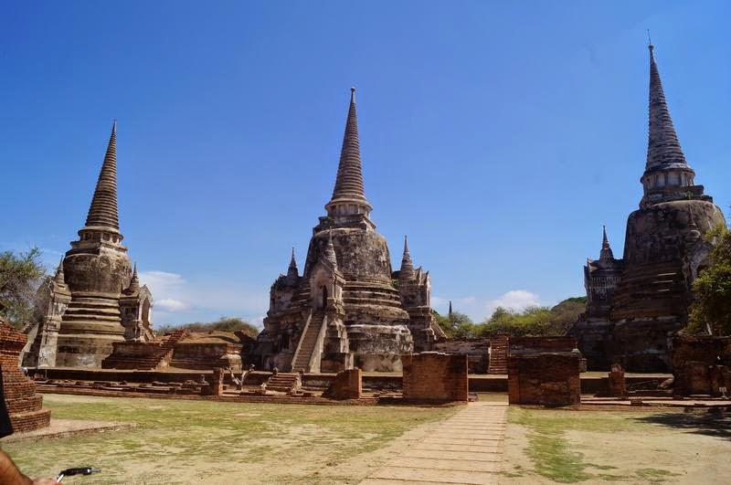 ruinas ayutthaya, Wat Phra Sri Sanphet, templos tailandia