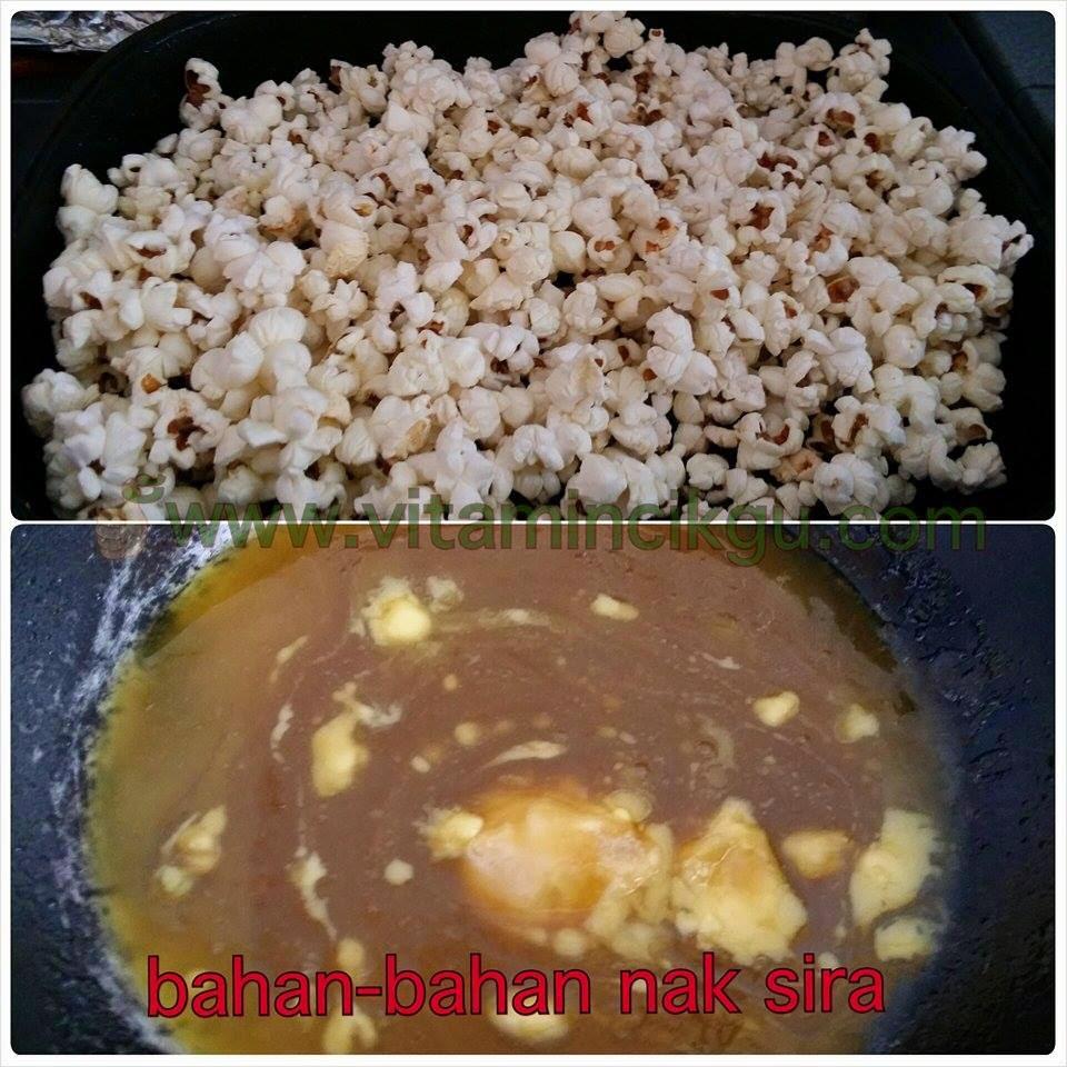 Cara buat popcorn ala garret sedap! popcorn, cara masak popcorn, buat popcorn sendiri, resepi popcorn