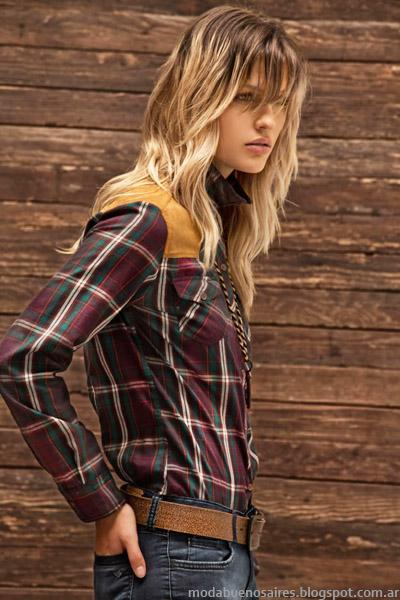 Moda otoño invierno 2014 camisas a cuadros o leñadores. Tannery otoño invierno 2014 colección.
