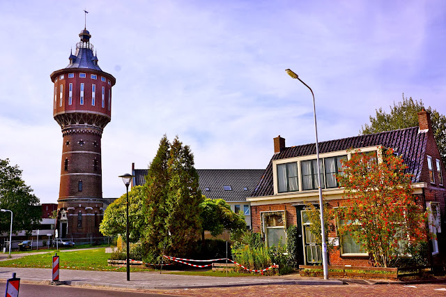 Picture of the water tower in Sneek, the Netherlands.