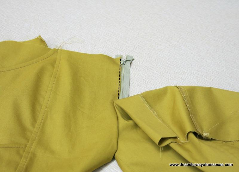 coser cremallera pantalón sport