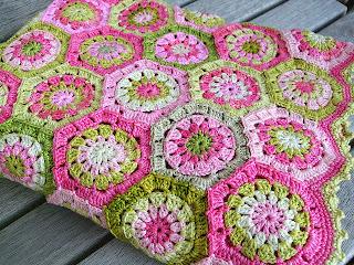 The Sunroom: Vintage Granny Square & Hexagon Crochet Dress.