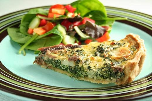 Spinach and anchovy tart