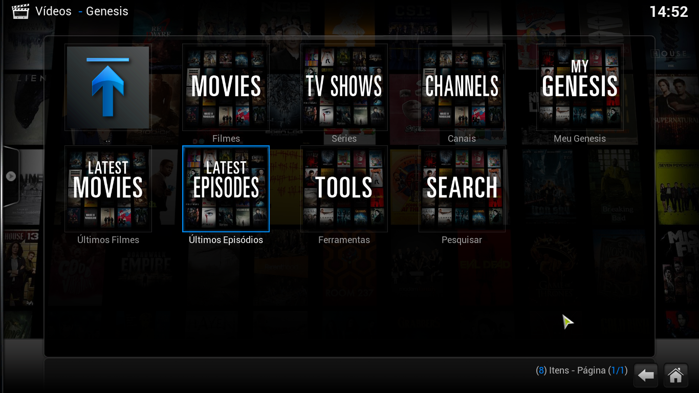 how to add genesis to kodi android