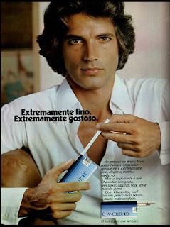 propaganda cigarros Chanceller anos 70; propaganda anos 70; história decada de 70; reclame anos 70; propaganda cigarros anos 70; Brazil in the 70s; Oswaldo Hernandez;