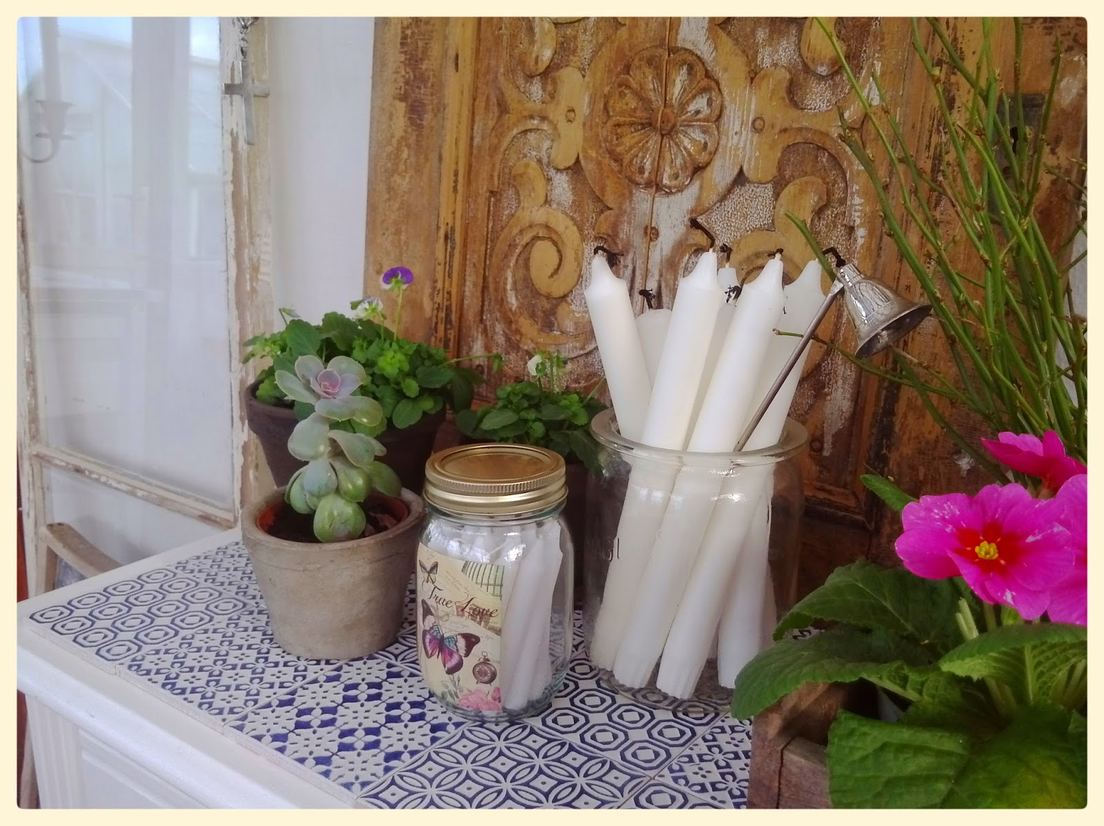Det simple liv: mere indretning i orangeriet...