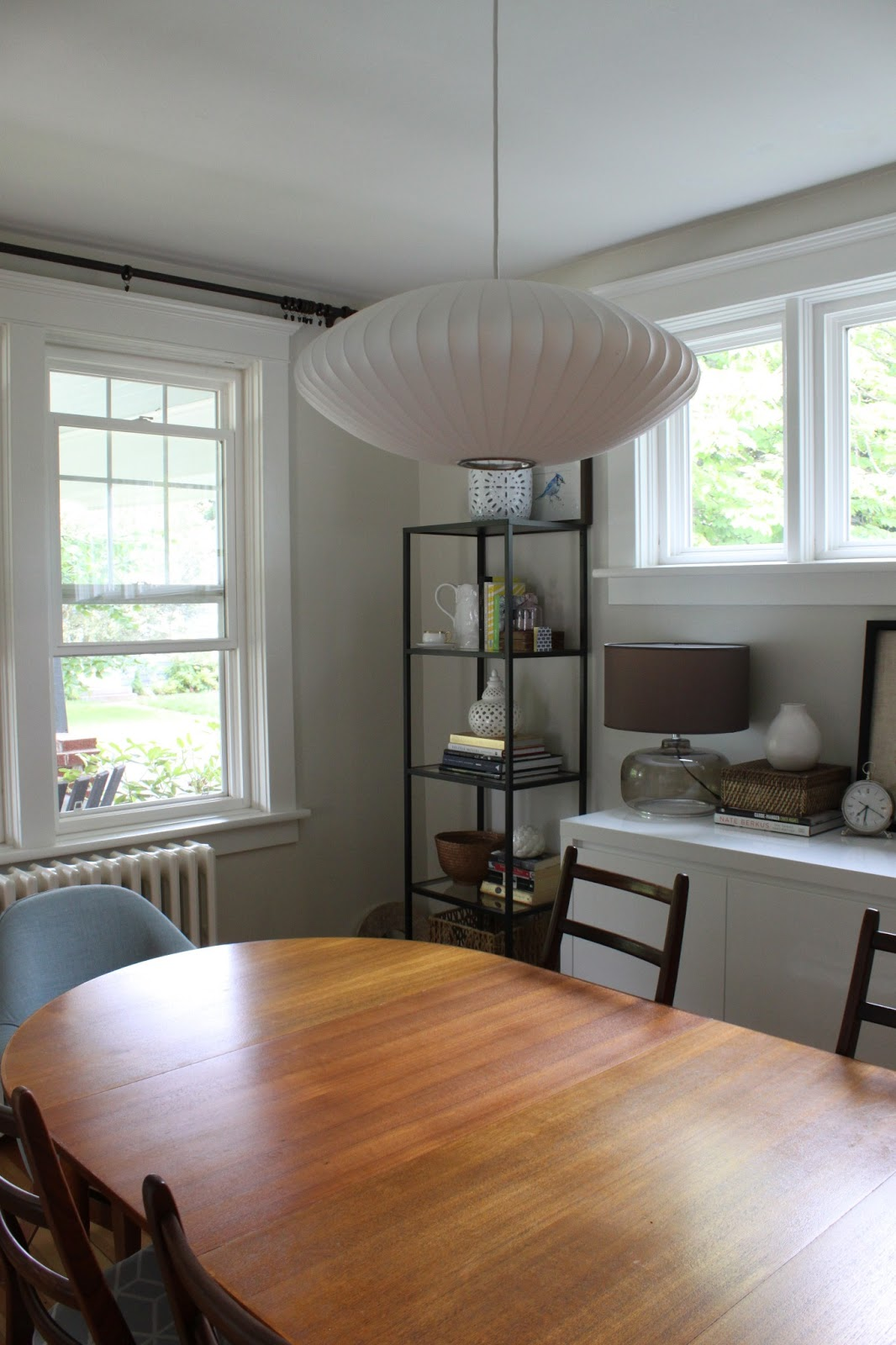 Our George Nelson Pendant We Replaced The Light In Dining Room