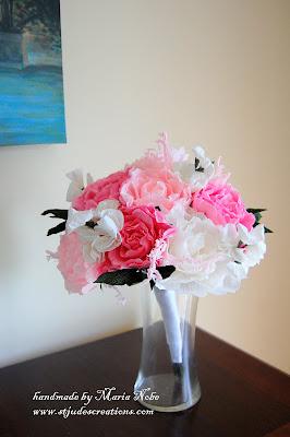 paper flower wedding bouquet martha