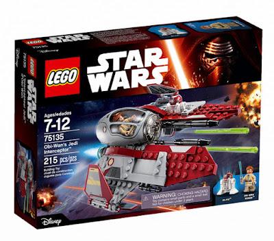 TOYS : JUGUETES - LEGO Star Wars  75135 Obi-Wan's Jedi Interceptor  Producto Oficial 2016 | Piezas: 215 | Edad: 7-12 años  Comprar en Amazon España & buy Amazon USA
