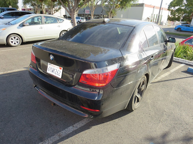 Key scratches on BMW 545i before painting at Almost Everything Auto Body