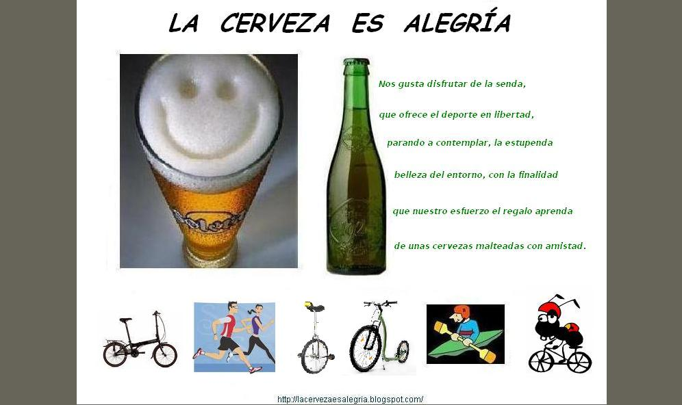 LA CERVEZA ES ALEGRIA