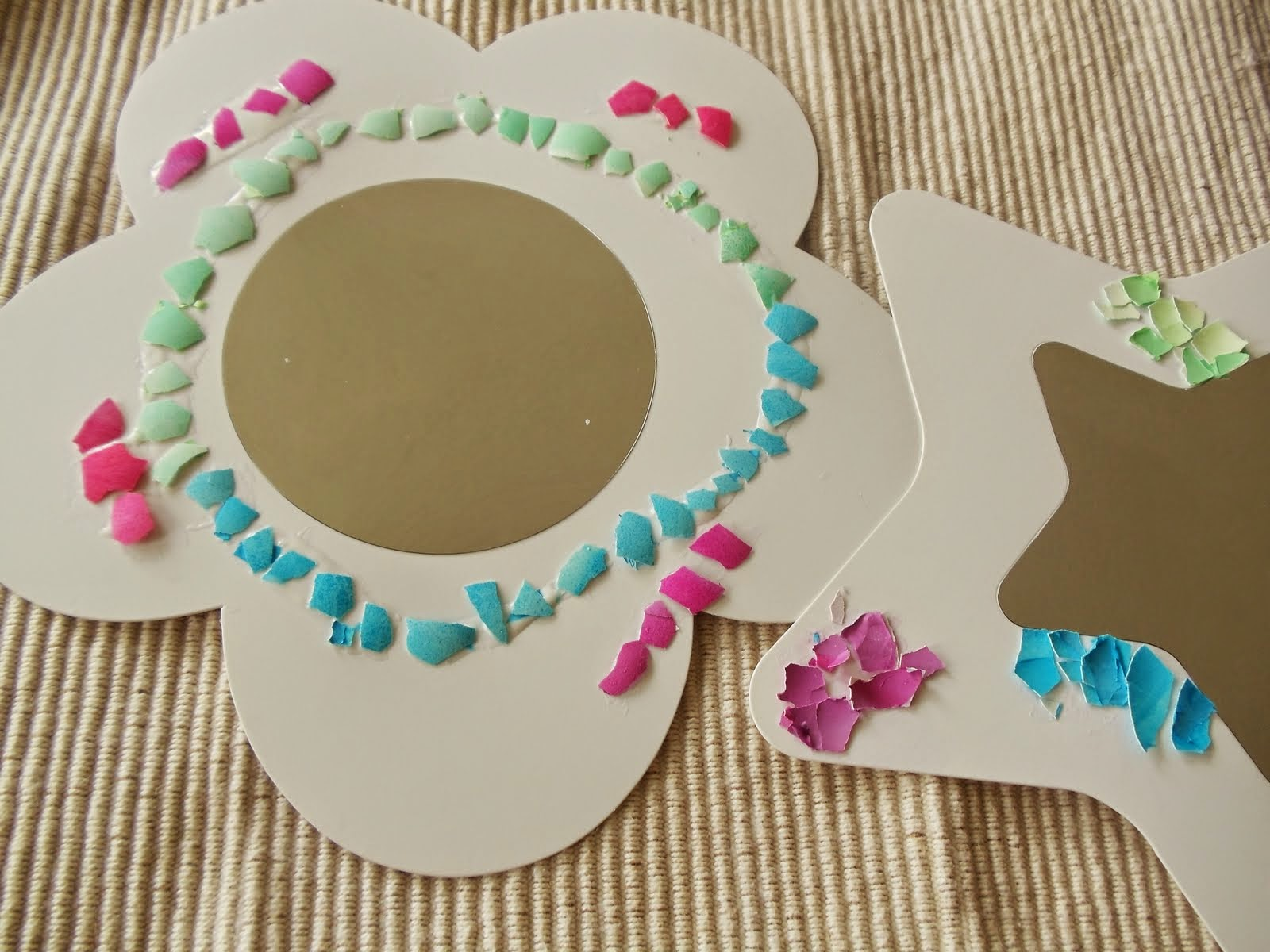 eggshell mosaic craft project for kids