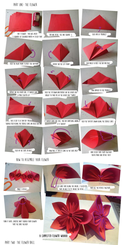 Create O Philia Diy Kusudama Origami Flower Ball Part One