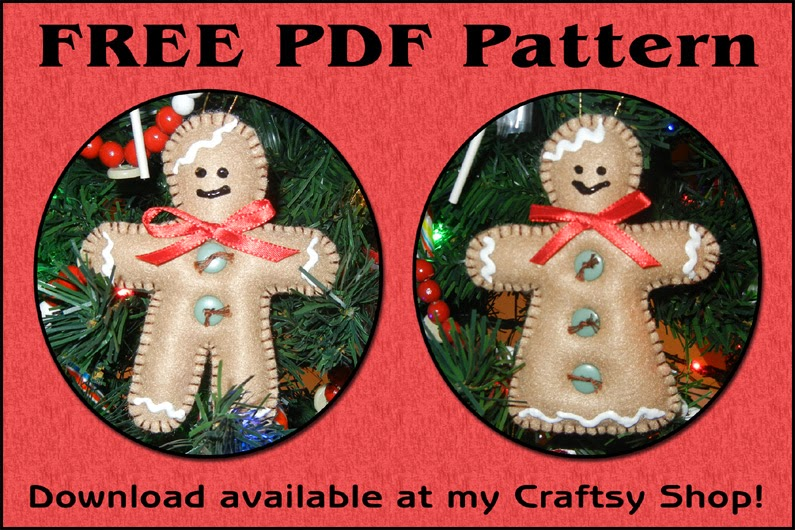 Sher\'s Creative Space: FREEBIE - Gingerbread Christmas Ornament Pattern