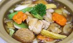 Resep praktis dan mudah membuat masakan khas china sapo tahu ayam enak, lezat