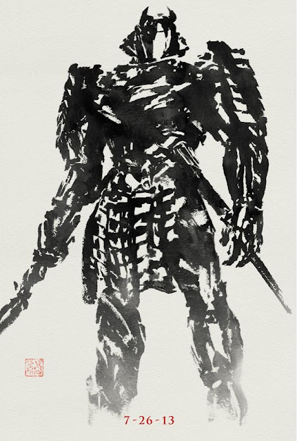 THE WOLVERINE IN BLACK PAINTING SAMURAI POSTER
