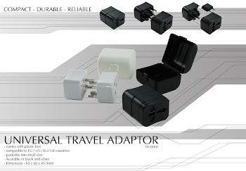 "CENTRUM LINK - ""UNIVERSAL TRAVEL ADAPTOR"" - TA10001"