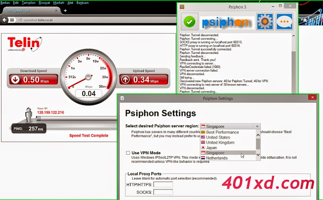 Tutorial Internet Gratis Unlimited Menggunakan Software Psiphon
