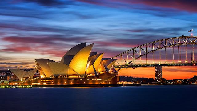 Sydney Opera House Evening Lights