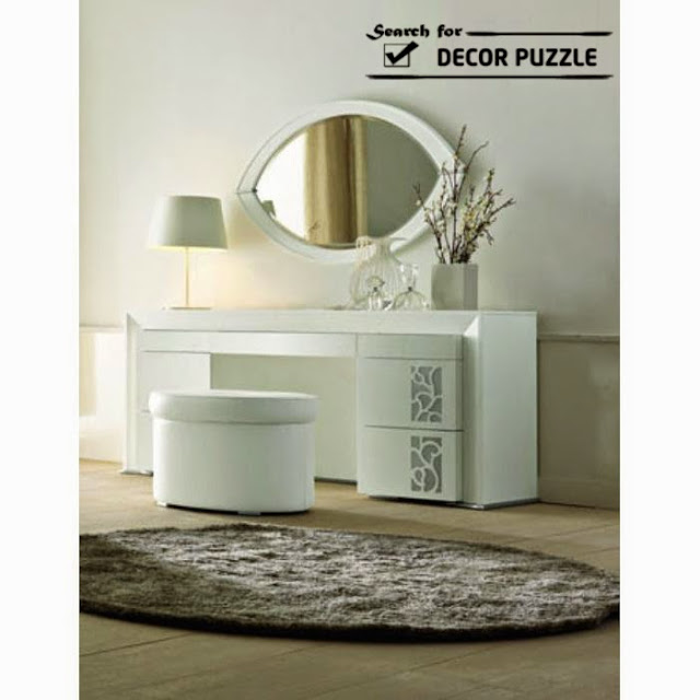 modern white dressing table, contemporary bedroom designs