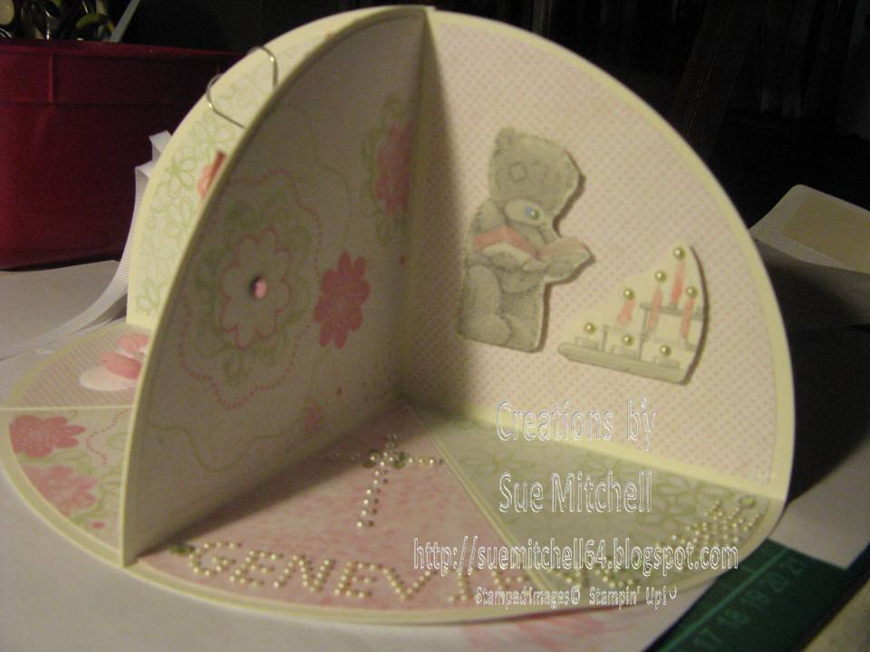Card Making Ideas In Australia Part - 39: 3D Circle Pop Ups - Christening, Christmas, 21st Card Making Ideas