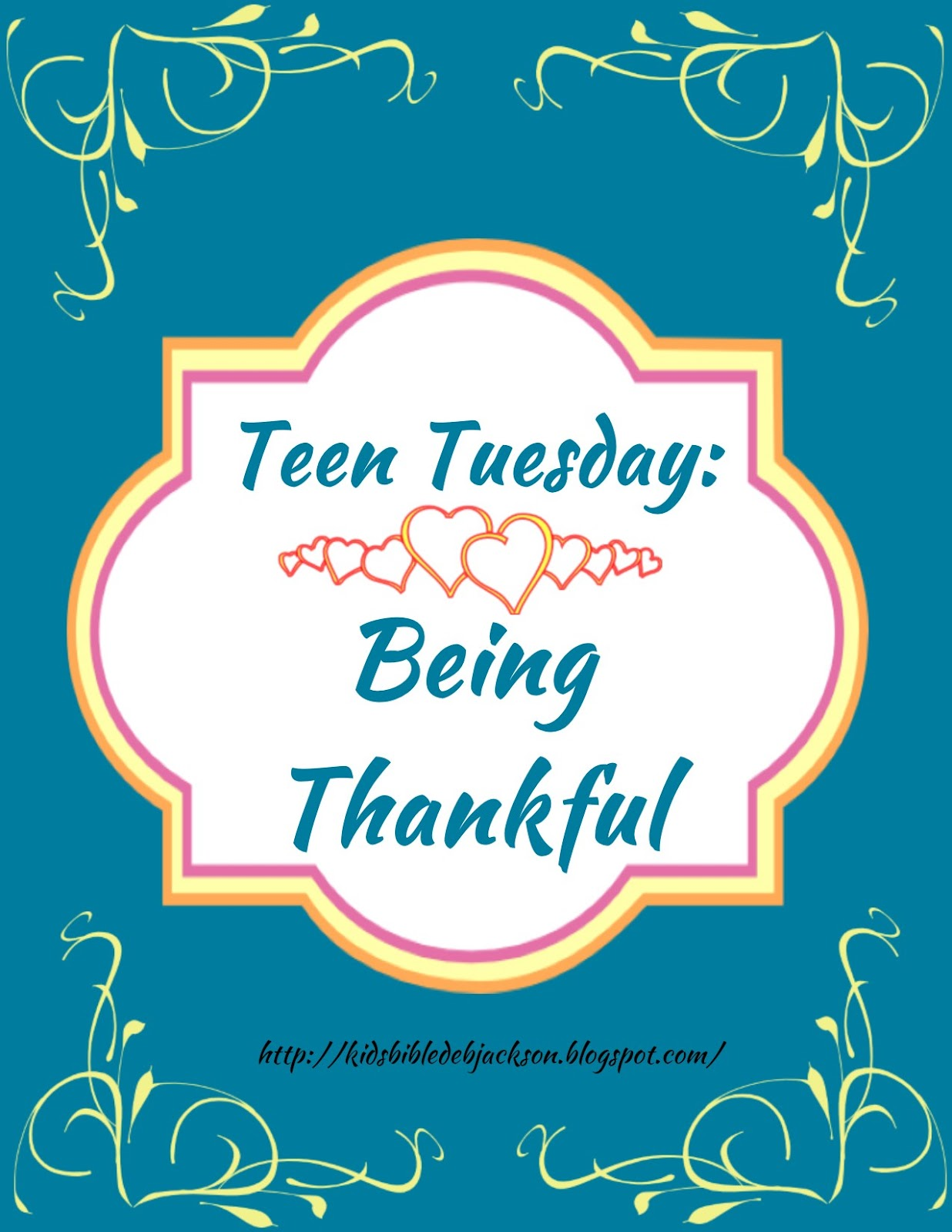 Teen Tuesday: Being Thankful