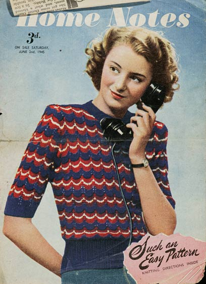 free 1940's Knitting pattern Your Victory Jumper