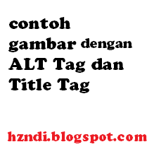 Gambar dengan Tag ALT dan Title Tag