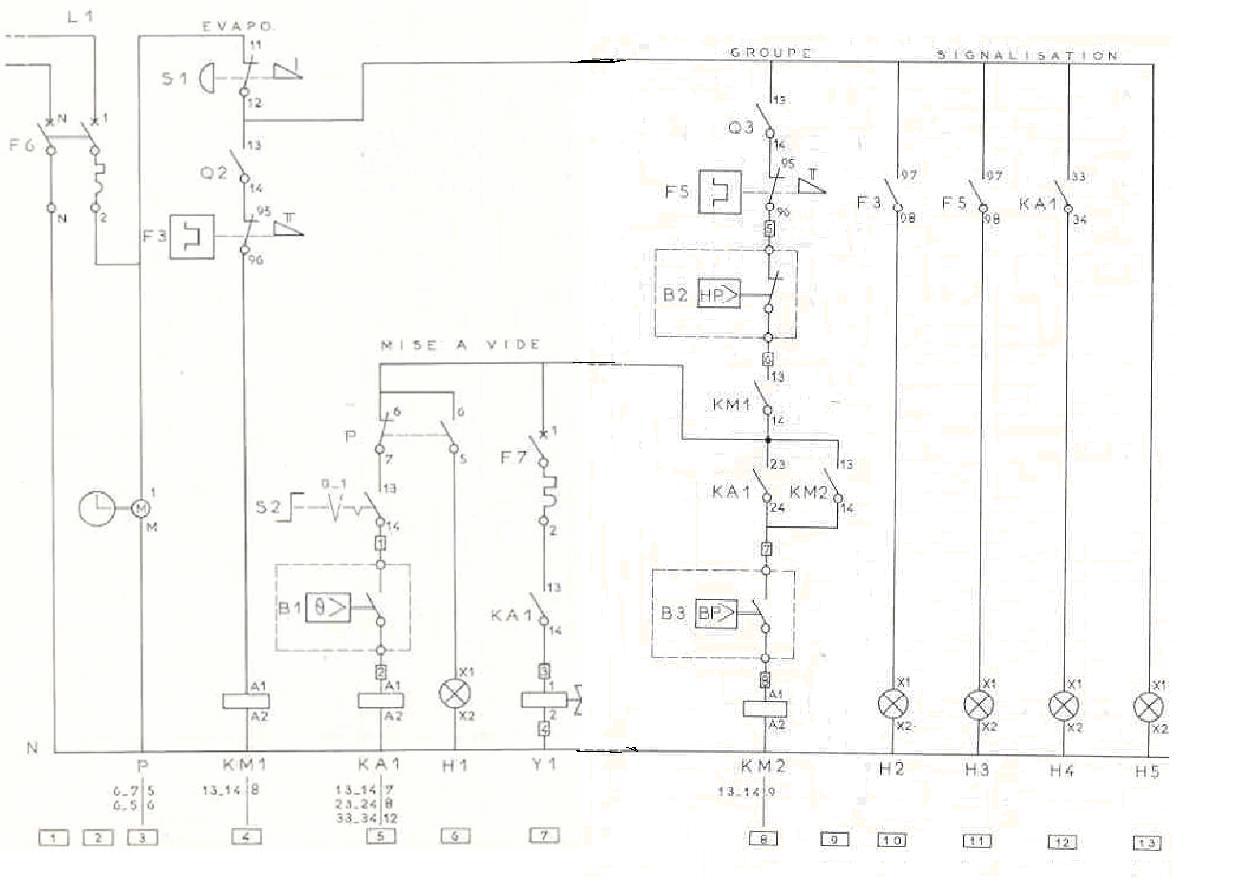 Froid clim circuit de commande de tirage au vide unique - Schema electrique chambre froide ...