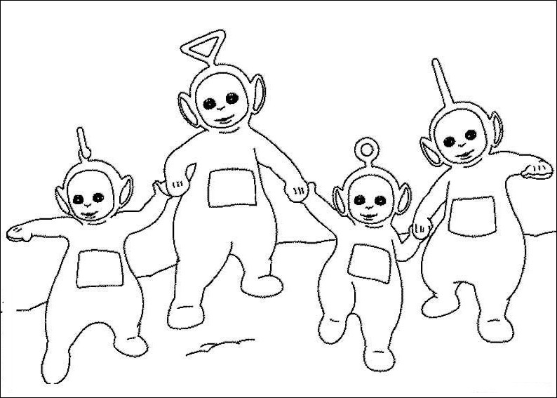 New Teletubbies Coloring Pages To Kids Teletubbies Coloring Pages