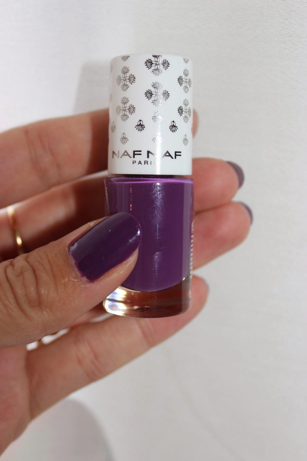 vernis Naf Naf sablé violette