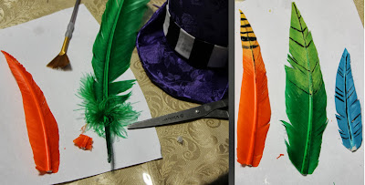 Making the feathers for Moxxi's hat