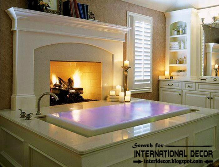 Best Fireplace Design this is cozy interior bathroom with fireplace designs, read now