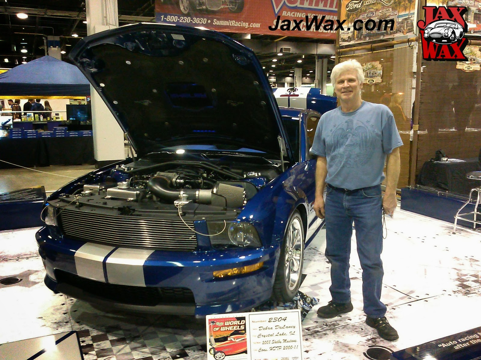 2008 Ford Mustang Shelby GT Jax Wax Customer Chicago World of Wheels
