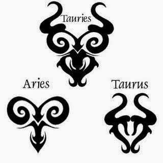 Diseño Tatuaje tribal signos zodiacales set 03