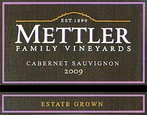 2010 Mettler Cabernet Sauvignon