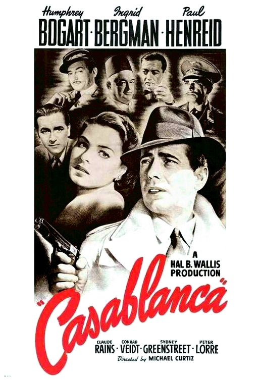 A history of graphic design chapter 47 artists and creators of american movie posters for Poster casablanca