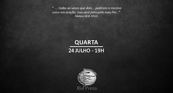 Culto Quarta - 24/07 19h