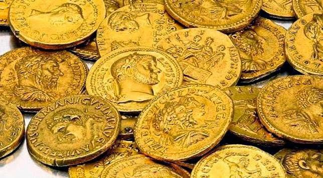 Monedas romanas de oro