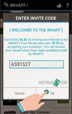 Cara Memasukkan Invite Code Di Aplikasi Whaff Rewards